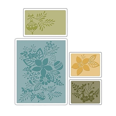 Sizzix® Textured Impressions Embossing Folder, Winter Botanicals Set
