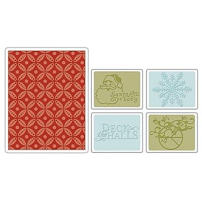 Sizzix® Textured Impressions Embossing Folder, Santa Baby Set
