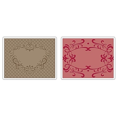 Sizzix® Textured Impressions Embossing Folder, Heart and Ornate Frames Set