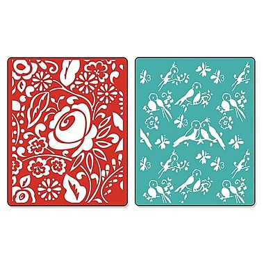 Sizzix® Textured Impressions Embossing Folder, Birds & Blooms Set