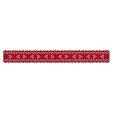 Sizzix® Sizzlits Decorative Strip Die, Floral Hearts