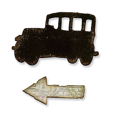 Sizzix® Movers & Shapers Magnetic Die Set, Mini Old Jalopy & Arrow Set