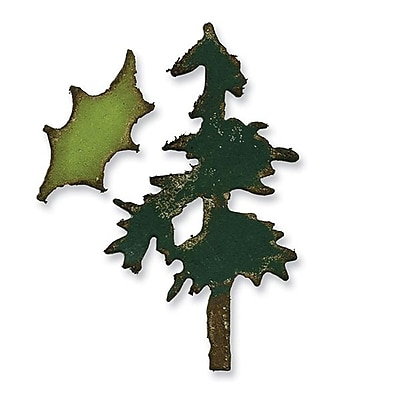 Sizzix® Movers & Shapers Magnetic Die Set, Mini Pine Tree & Holly Set (657472)
