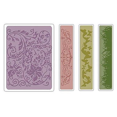 Sizzix® Texture Fades Embossing Folder, Springtime Background and Borders Set