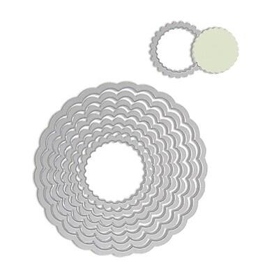 Sizzix Framelits Die Set, Circle, Scallop 224169