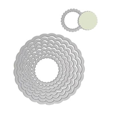 Sizzix® Framelits Die Set, Circle, Scallop