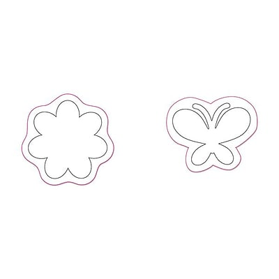 Sizzix® Movers & Shapers Magnetic Die Set, Flower & Butterfly Set (657584)