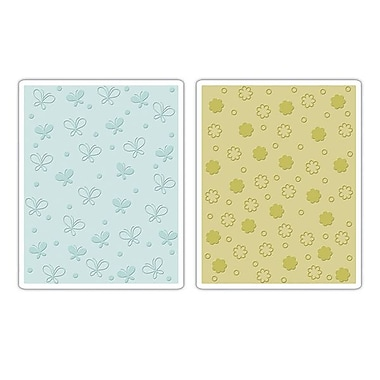 Sizzix® Textured Impressions Embossing Folder, Butterflies and Flowers Set
