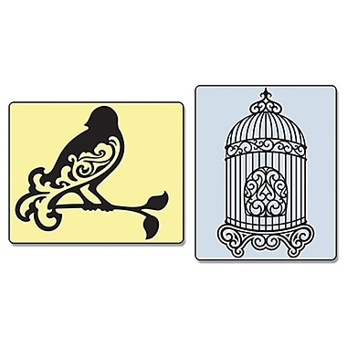 Sizzix® Textured Impressions Embossing Folder, Bird and Birdcage Set
