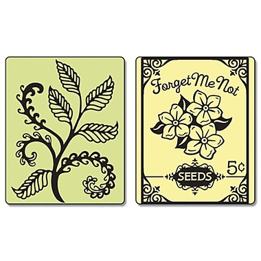 Sizzix® Textured Impressions Embossing Folder, Ferns and Seed Packet Set