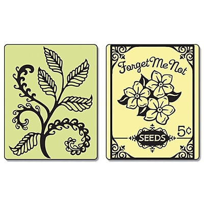 Sizzix® Textured Impressions Embossing Folder, Ferns and Seed Packet Set (657665)