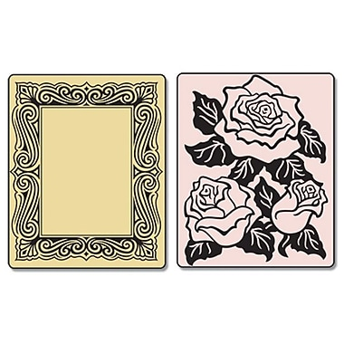Sizzix® Textured Impressions Embossing Folder, Roses and Frame Set