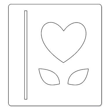 Sizzix® Bigz Die, Heart, Stem and Leaves