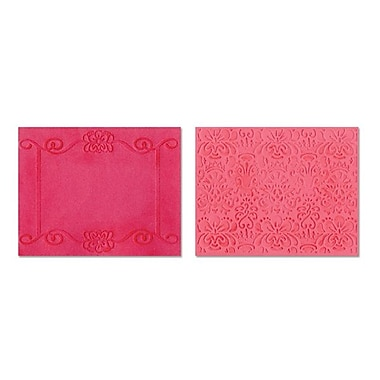 Sizzix® Textured Impressions Embossing Folder, Scroll Frame and Succulent Set