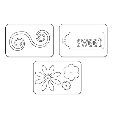 Sizzix® Sizzlits Die Set, Sweet Things Set