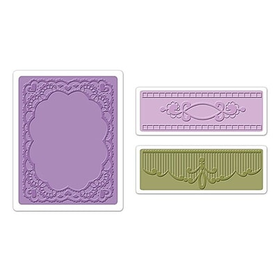 Sizzix® Textured Impressions Embossing Folder, Oval Lace Set