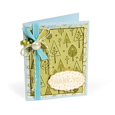 Sizzix® Textured Impressions Embossing Folder With Stamp, Birds 'n' Trees Set