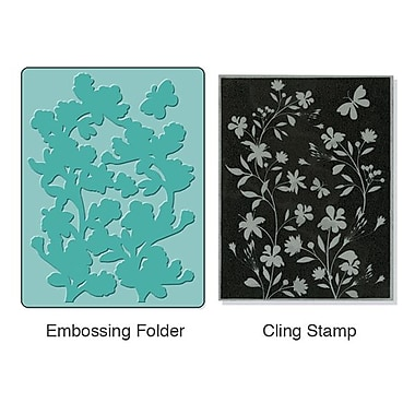 Sizzix® Textured Impressions Embossing Folder With Stamp, Silhouette Vines Set
