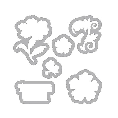 Sizzix® Framelits Die Set With Stamps, Floral