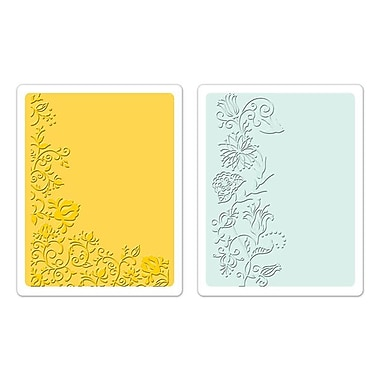 Sizzix® Textured Impressions Embossing Folder, Floral Vines Set