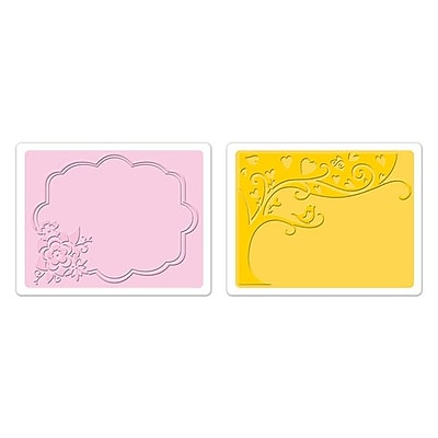 Sizzix® Textured Impressions Embossing Folder, Tree and Flower Frame Set