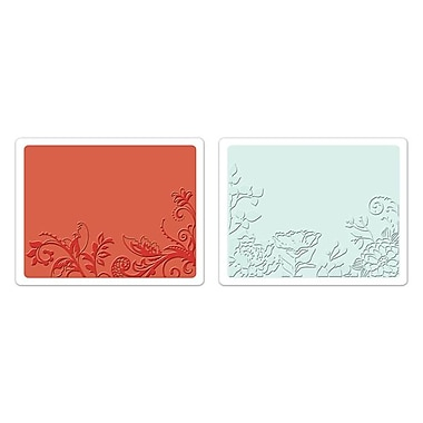 Sizzix® Textured Impressions Embossing Folder, Vine and Flower Garden Set