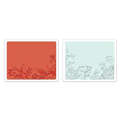 Sizzix® Textured Impressions Embossing Folder, Vine and Flower Garden Set