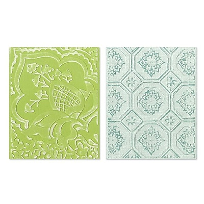 Sizzix® Textured Impressions Embossing Folder, Free Spirit Florals Set