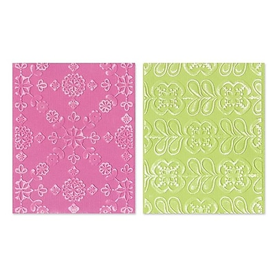 Sizzix® Textured Impressions Embossing Folder, Kaleidoscope Blooms Set