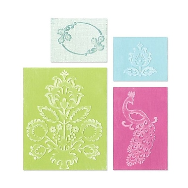 Sizzix® Textured Impressions Embossing Folder, Peacock Set