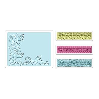 Sizzix® Textured Impressions Embossing Folder, Peacock Vine Set