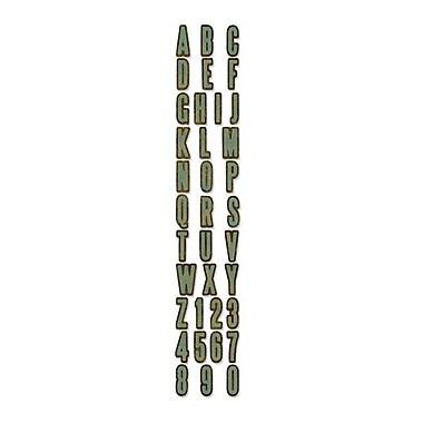 Sizzix® Sizzlits Decorative Strip Alphabet Die, Inside Out