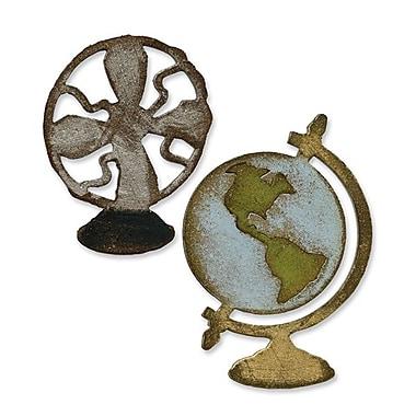 Sizzix® Movers & Shapers Magnetic Die Set, Vintage Fan & Globe Set