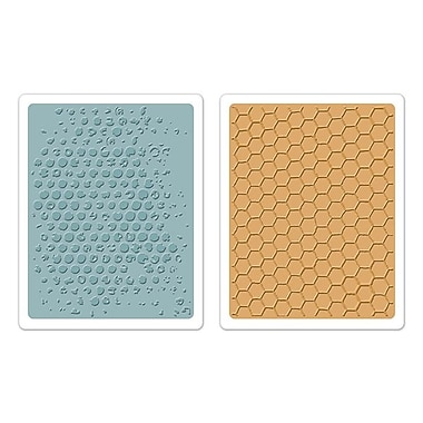 Sizzix® Texture Fades Embossing Folder, Bubble and Honeycomb Set