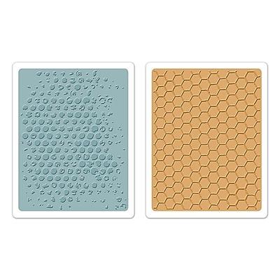 Sizzix® Texture Fades Embossing Folder, Bubble and Honeycomb Set