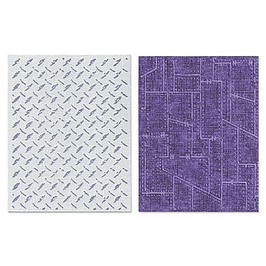 Sizzix® Texture Fades Embossing Folder, Diamond Plate and Riveted Metal Set