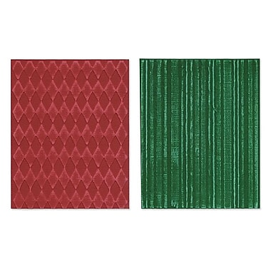Sizzix® Texture Fades Embossing Folder, Harlequin and Stripes Set
