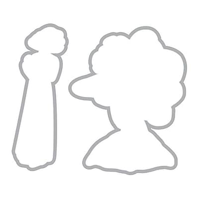 Sizzix® Framelits Die Set With Stamps, Lady With Hats Set