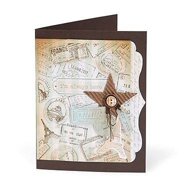 Sizzix® Textured Impressions Embossing Folder With Stamp, Postage & Frame Set