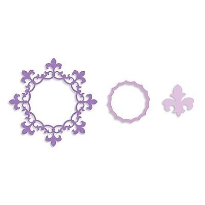 Sizzix® Framelits Die Set, Frame Circle With Fleur de Lis Edging (657904)