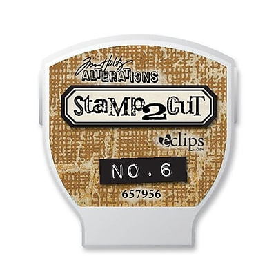 Sizzix® eclips Cartridge, Alterations Stamp2Cut No. 6