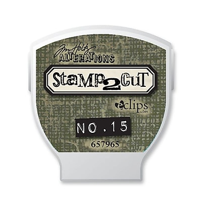 Sizzix® eclips Cartridge, Alterations Stamp2Cut No. 15