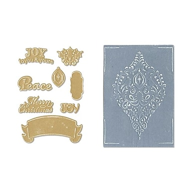 Sizzix® Framelits Die Set With Textured Impressions, Ornament Set