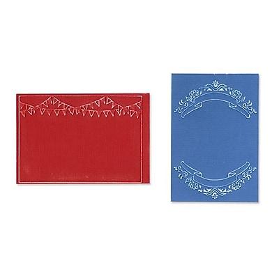 Sizzix® Textured Impressions Embossing Folder, Mini Banners Set