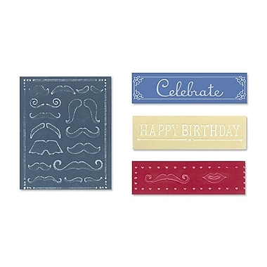 Sizzix® Textured Impressions Embossing Folder, Mustache Set