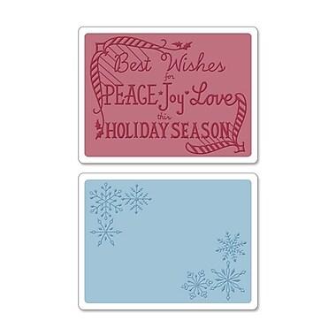 Sizzix® Textured Impressions Embossing Folder, Snowflake Season Set