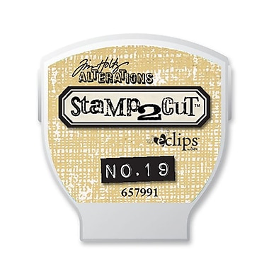 Sizzix® eclips Cartridge, Alterations Stamp2Cut No. 19