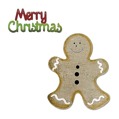 Sizzix® Bigz Die With Bonus Sizzlits Die, Gingerbread Man and Merry Christmas
