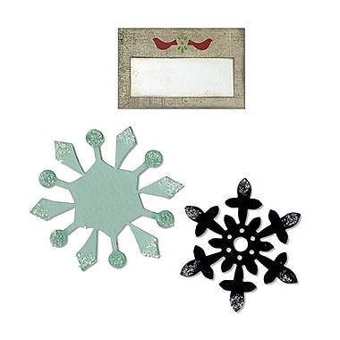 Sizzix® Bigz Die With Bonus Sizzlits, Snowflakes and Tag With Birds