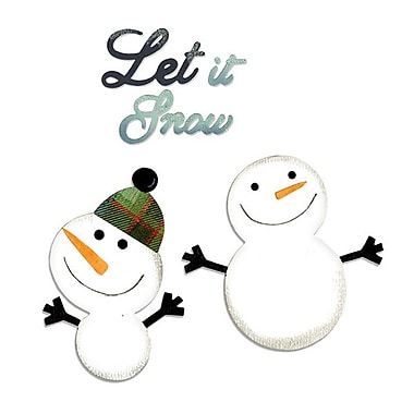 Sizzix® Bigz Die With Bonus Sizzlits Die, Snowmen and Let it Snow